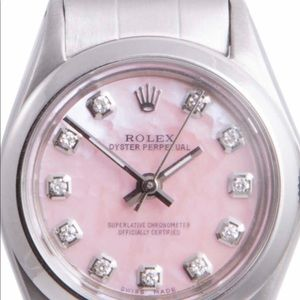Rolex Ladies Oyster Perpetual Pink Diamond Dial